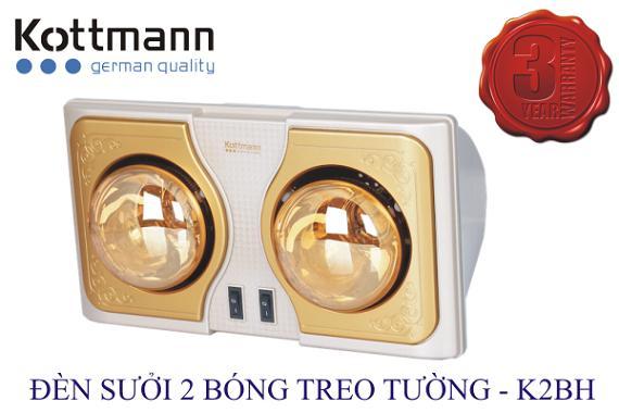 Đèn sưởi nhà tắm Kottmann 2 bóng K2BH